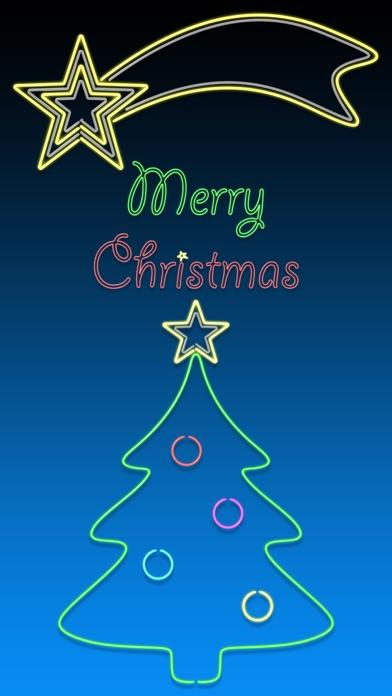 Christmas Neon Lights animated screenshot one