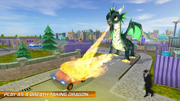 Flying Dragon Fire City Attack screenshot-4