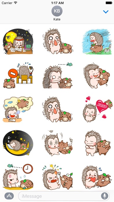 Hedgehog And Wild Hog Sticker screenshot 2