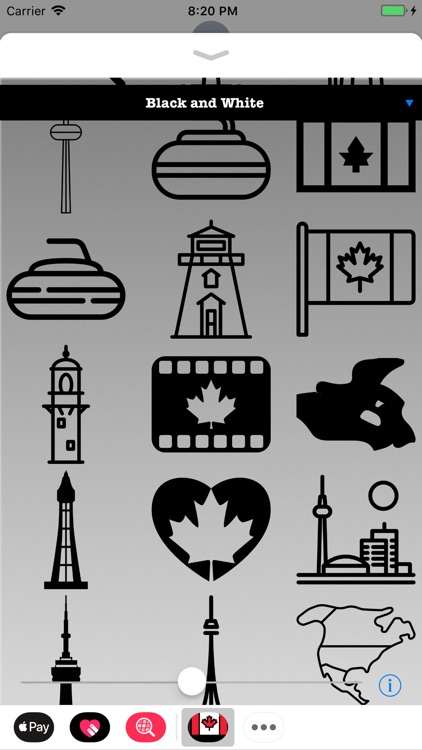 Stickers of Canada