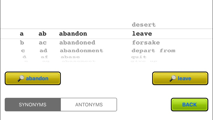 Word Wham - Synonyms Antonyms