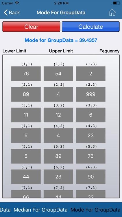 Statistical Calculator screenshot-3