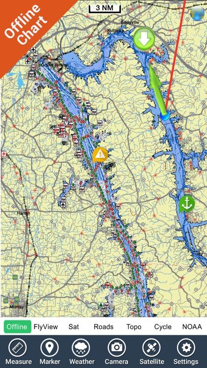 Kentucky Barkley Lakes Charts