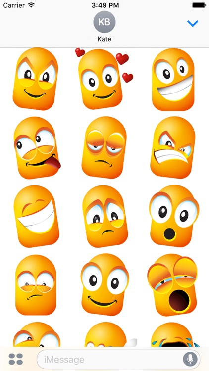Daily Funny Face Emoji Sticker
