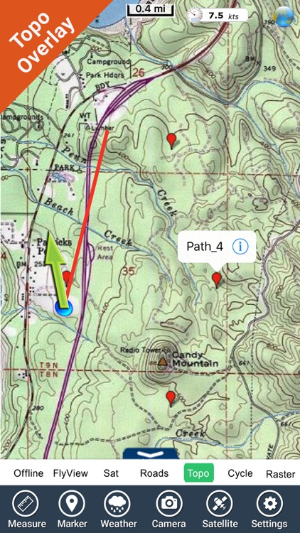 Redwood National Park gps and outdoor map