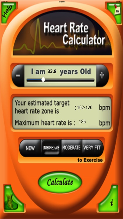 Health Target Heart Rate Calc