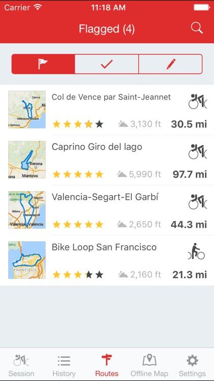 Runtastic Road Bike GPS PRO screenshot-4