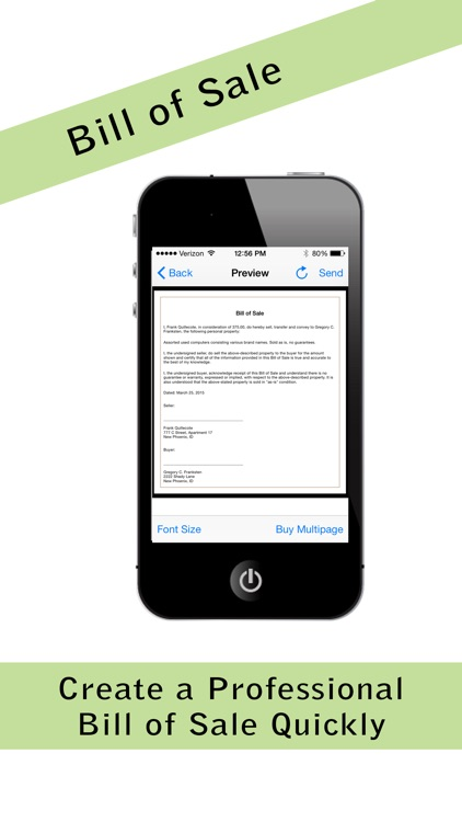 pocket bill of sale pro by lakeview mobile apps llc