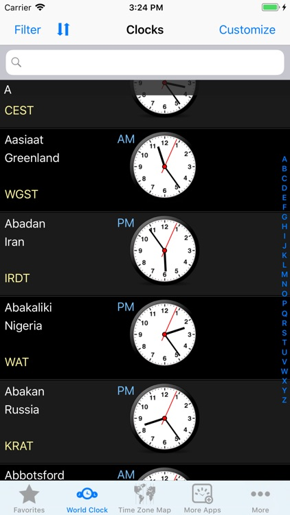 World Clock – Time Zones screenshot-4