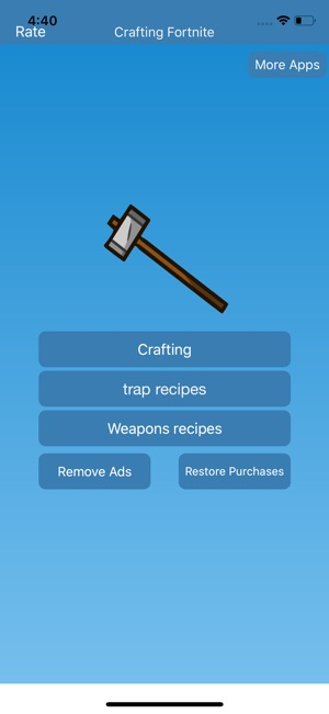 iphone screenshots - fortnite crafting recipes