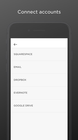 Squarespace Note Screenshot