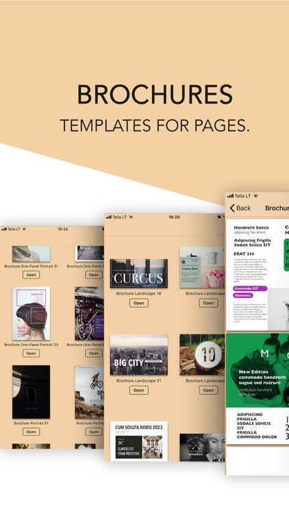 brochures templates for pages by graphic node