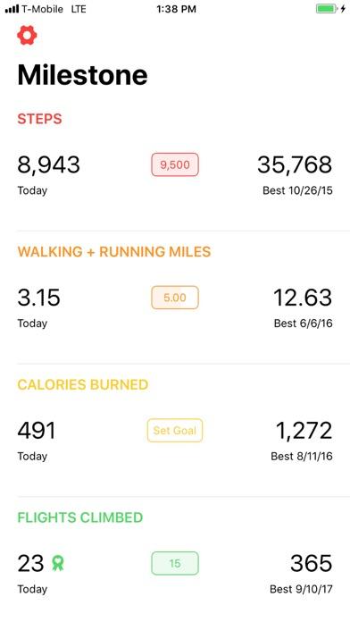 Milestone Fitness screenshot one