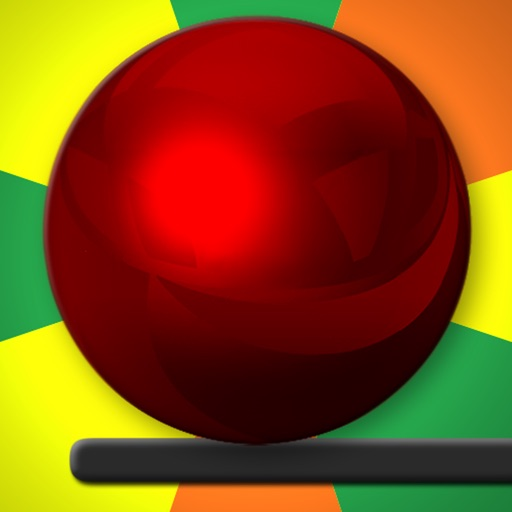 Crazy Red Ball and Walls iOS App