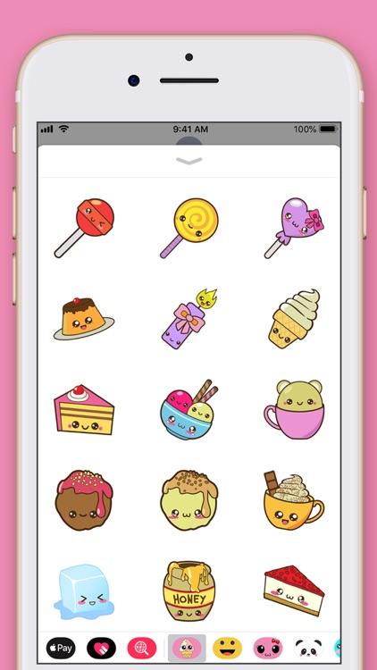 Cute Food Kawaii Stickers screenshot-4