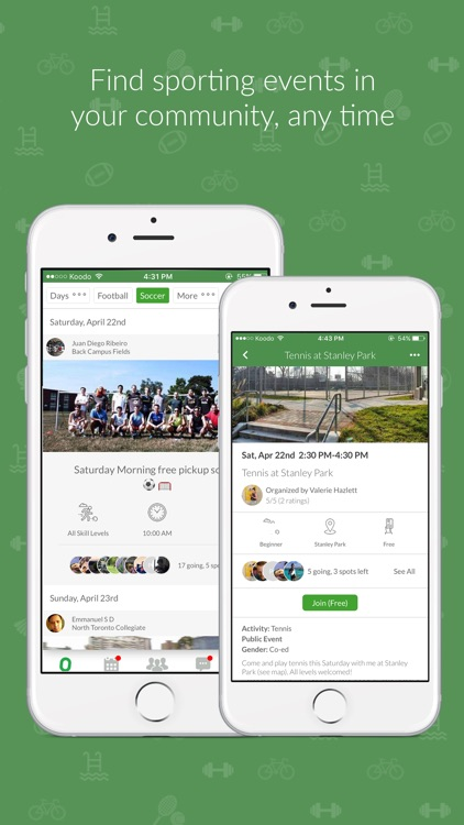 OpenSports - Find open pickup sports, meetup, play