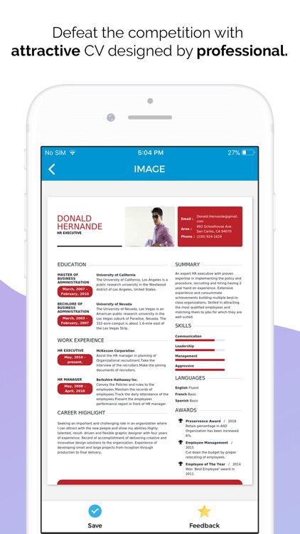 Quick Resume Builder, CV Maker screenshot-5