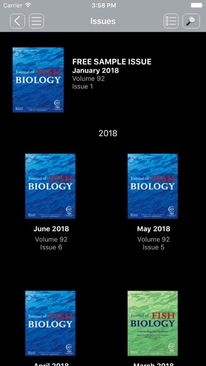Journal of Fish Biology screenshot-3