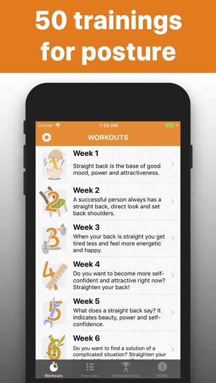 Posture - trainings for back