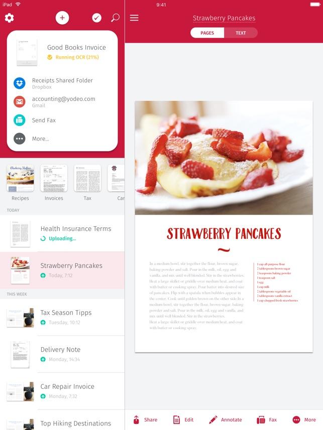 Scanner App & Fax - Scanbot Screenshot