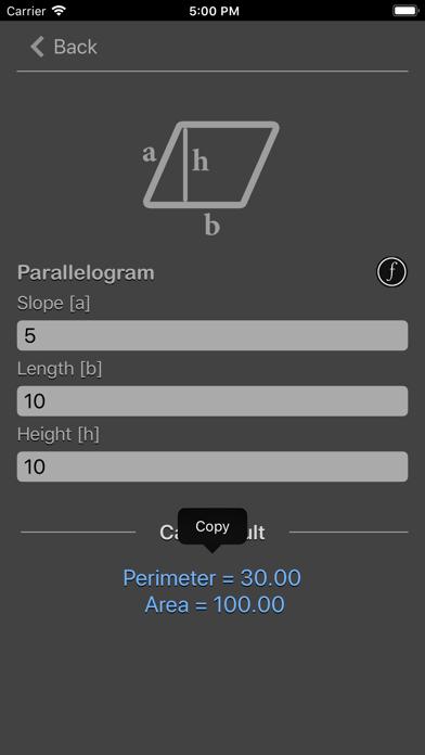 Geometry Calculator Nitrio screenshot three