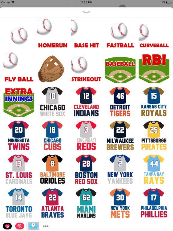 Animated Baseball Stickers screenshot 5