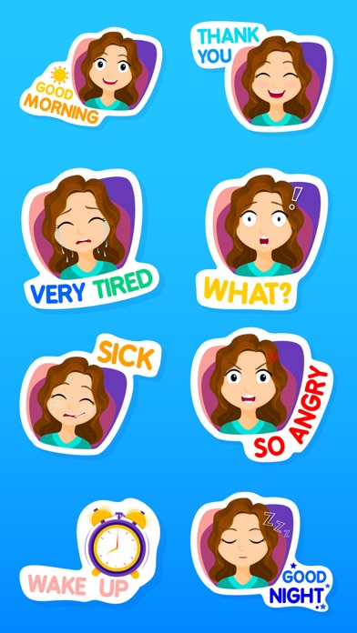 Fiona the Messy Girl Stickers screenshot one