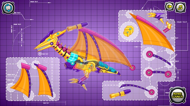 Steel Dino Toy:Mechanic Pterosaurs - 2 player game