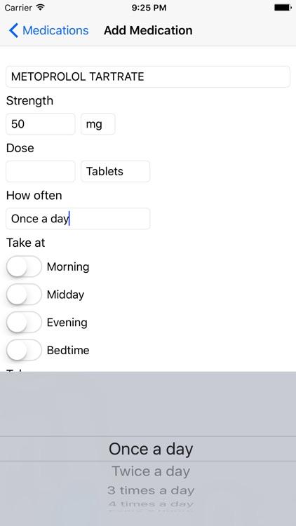iTake Mobile Medication List