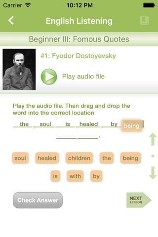 English Listening & Quiz - náhled