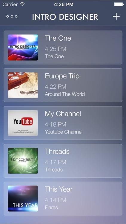 Intro Designer for iMovie and Youtube screenshot-3