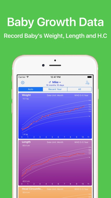 Growth - Baby Growth Data Recorder