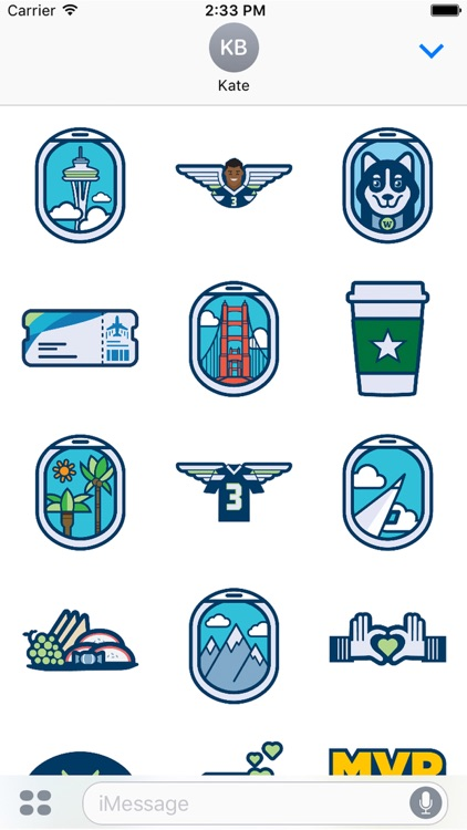 Alaska Airlines Stickers