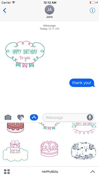 A Very Happy Birthday Animated Sticker
