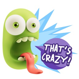 Silly 3D Monster Emojis With Words Sticker Pack