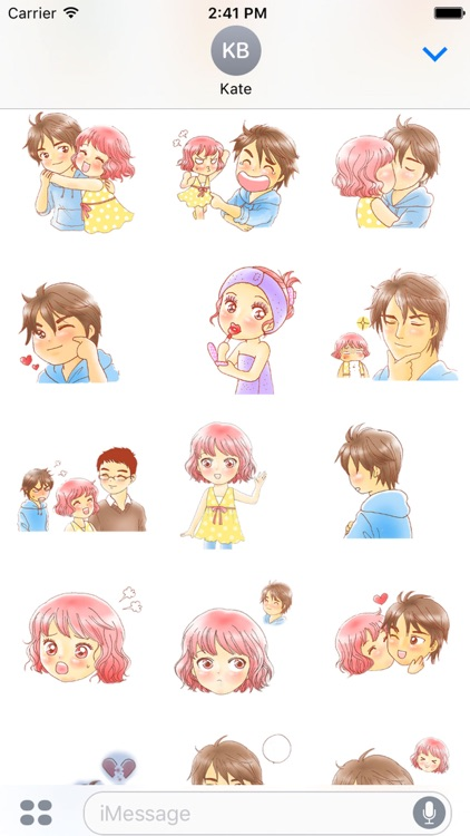 Love couple sweet romance 1 for iMessage Sticker