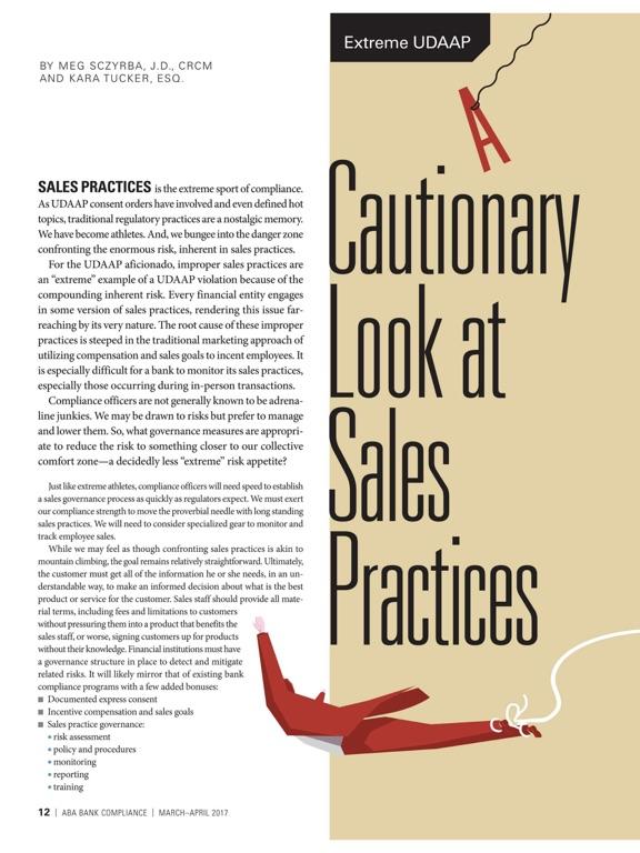 ABA Bank Compliance magazine-ipad-2
