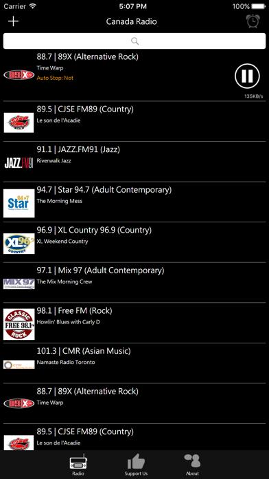 Canadian Radio screenshot two