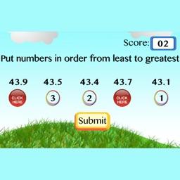 Put decimal numbers in order