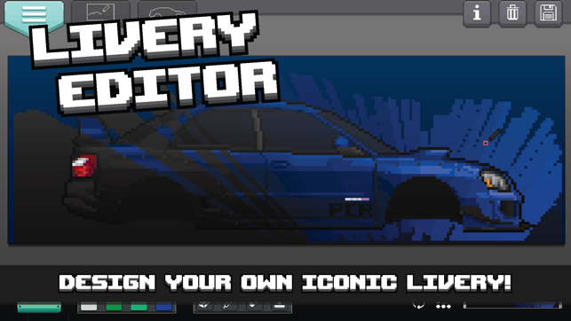 how to draw pixel cars