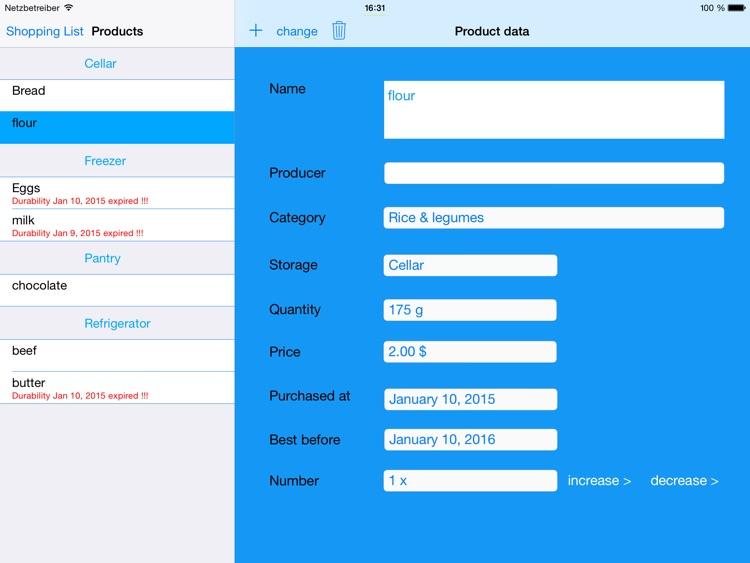 Vorräte(Tablet) screenshot-3
