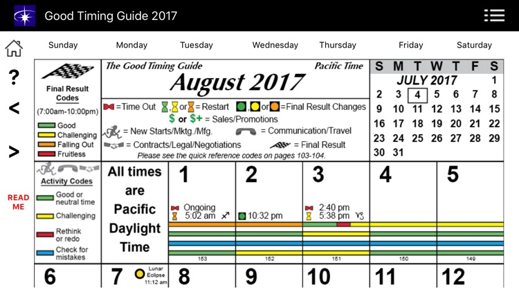 Good Timing Guide 2017