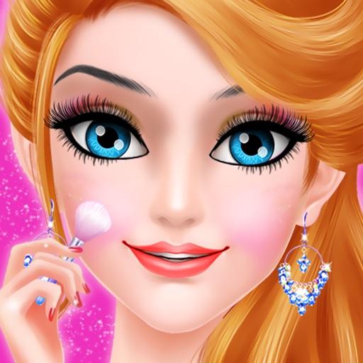 Принцесса макияж игры для девочек - розовая принце