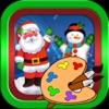 聖誕老人- 聖誕-畫畫-圣诞礼物,圣诞快乐-畫畫板遊戲·幼兒塗鴉·寶寶填色·早教 ,儿童学画画免费