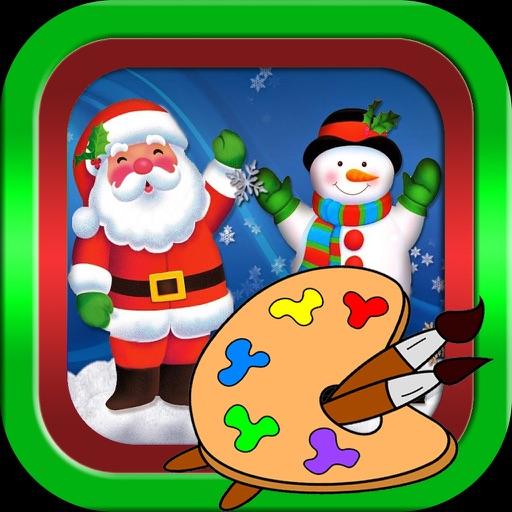 圣诞老人- 圣诞-画画-圣诞礼物,圣诞快乐-画画板游戏·幼儿涂鸦·宝宝填色·早教 ,儿童学画画免费