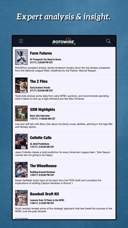 RotoWire Fantasy Baseball Assistant 2017 screenshot-3