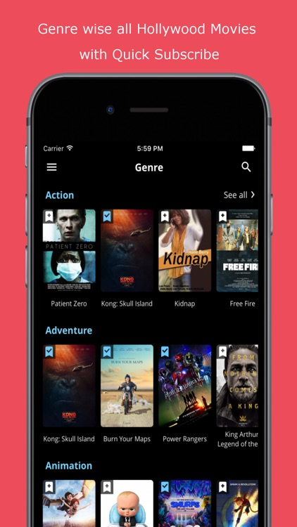 free app for hollywood movies