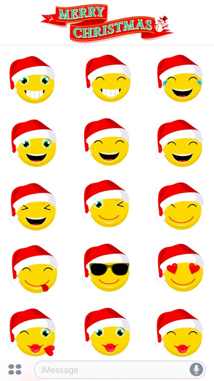 Merry Christmas & Happy New Year 2017 - Cute Emoji