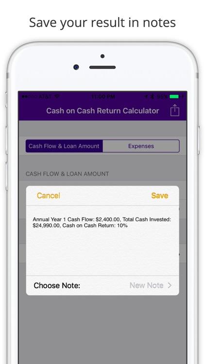 Cash On Cash Return Calculator