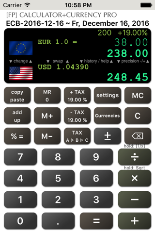 Calculator+Currency PRO - náhled